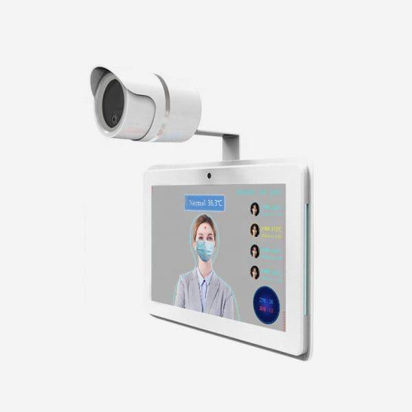 10.1inch face recognition equipment body temperature screening camera